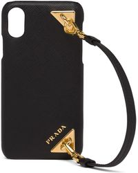 Prada Strap-detail Iphone X/xs Case - Black