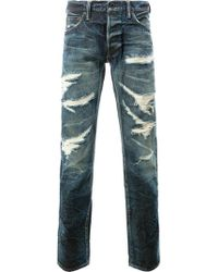 Mastercraft Union | Tapered Distressed Jeans | Lyst