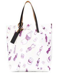 Marni グラフィック ハンドバッグ - ホワイト