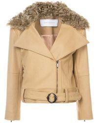 Kimora Lee Simmons - Removable Shearling Collar Bomber Jacket - Lyst