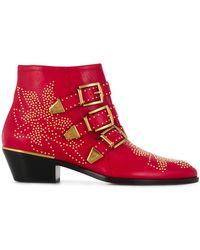 Chloé Ботинки Susanna - Красный