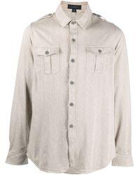 Sease ポケット ロングスリーブシャツ - ナチュラル