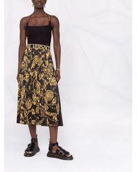 Versace Jeans Couture Falda Regalia Baroque plisada - Negro