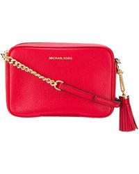 Michael Kors Jet Set Medium Camera Bag Bright Red