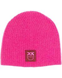 Pinko ロゴパッチ ビーニー - ピンク