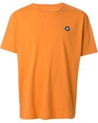 WOOD WOOD Ace リラックスフィット Tシャツ - オレンジ