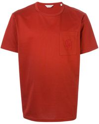 Gieves & Hawkes ポケット Tシャツ - レッド