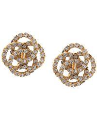 Jennifer Behr Oversized Stud Detail Earrings - Metallic