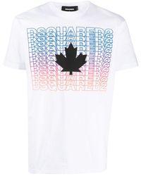 DSquared² - Graphic Print Cotton T-shirt - Lyst