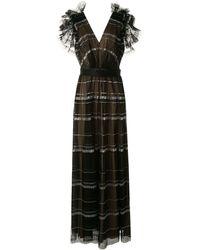 Tadashi Shoji プリーツドレス - ブラック