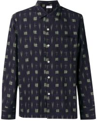 Universal Works - Ikat Printed Shirt - Lyst