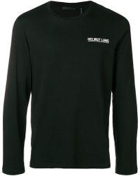 Helmut Lang - Sweatshirt mit Logo-Print - Lyst