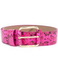 B-Low The Belt Cinturón con efecto de piel de serpiente - Rosa