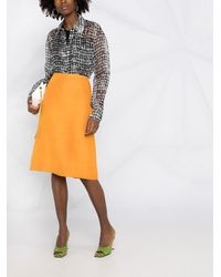 Nina Ricci Straight-cut Skirt - Orange