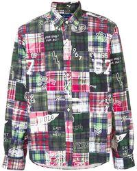 Ralph Lauren パッチワーク チェックシャツ - マルチカラー