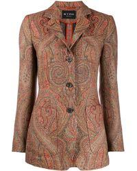 Etro ペイズリージャケット - ブラウン