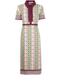 Ports 1961 グラフィック ドレス - マルチカラー