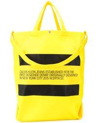 CALVIN KLEIN JEANS EST. 1978 Logo Tote Bag - Black