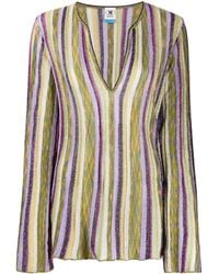M Missoni - Top metalizado a rayas - Lyst