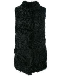 Numerootto - Mid-length Fur Gilet - Lyst