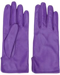 MSGM Leather Driving Gloves - Purple