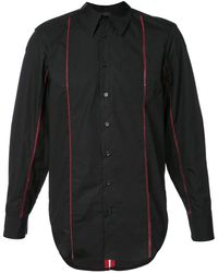 Yang Li Striped Shirt - Black