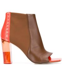 Emilio Pucci 100mm Open-toe Boots - Brown