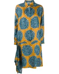 ODEEH シャツドレス - ブルー