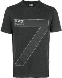EA7 - Printed Logo T-shirt - Lyst