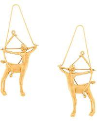Givenchy Sagittarius Zodiac Earrings - Metallic
