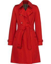 Burberry Gabardine Trenchcoat - Rood
