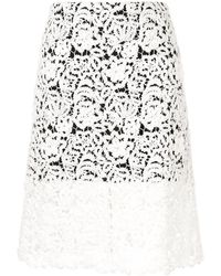Chloé Lace Midi Skirt - White