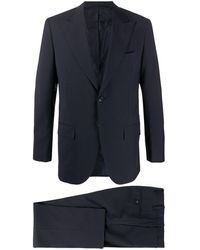 Kiton テーラード シングルスーツ - ブラック