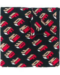 Fendi Écharpe à motif monogrammé - Noir