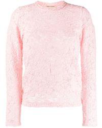 Comme des Garçons Sheer Lace T-shirt - Pink