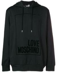 Love Moschino - Logo Hooded Sweatshirt - Lyst