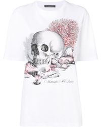 Alexander McQueen - Coral Skull T-shirt - Lyst