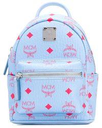 MCM Monogram Print Backpack - ブルー