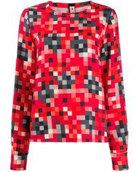 Marni Blusa estampada de manga larga - Rojo
