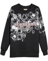 Burberry - Doodle Print Jersey Sweatshirt - Lyst