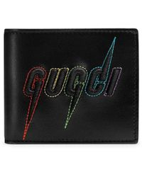 Gucci - Blade Embroidered Wallet - Lyst