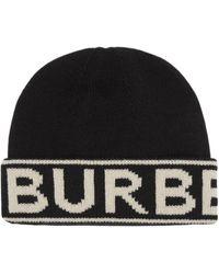 Burberry Кашемировая Шапка Бини С Логотипом - Черный