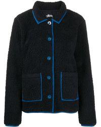 Stussy Two Tone Fleece Jacket - Black