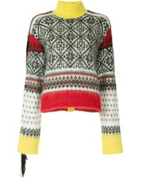 N°21 Winter print knit sweater - Multicolore