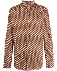 Prada - Shirt Met Geometrisch Patroon - Lyst