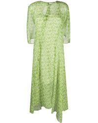 Acne Studios Robe imprimée à fleurs - Vert