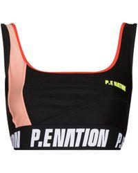 P.E Nation Opponent スポーツブラ - ブラック