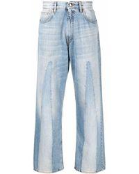Marni パネル ストレートジーンズ - ブルー
