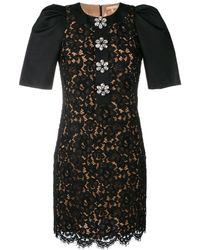 Michael Kors フローラル レースドレス - ブラック