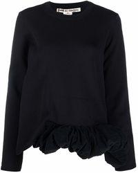 Comme des Garçons ラッフルトリム スウェットシャツ - ブラック